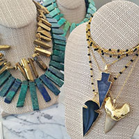 thehightowercollection_handmadejewelrynataliehightower_necklace_azuriteagatearrowssharktoothgoldquartzimage